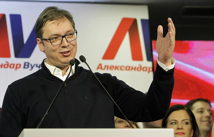 Serbian President-elect Aleksandar Vucic