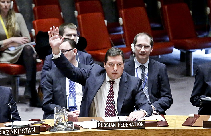 Russian Deputy Ambassador to the UN Vladimir Safronkov