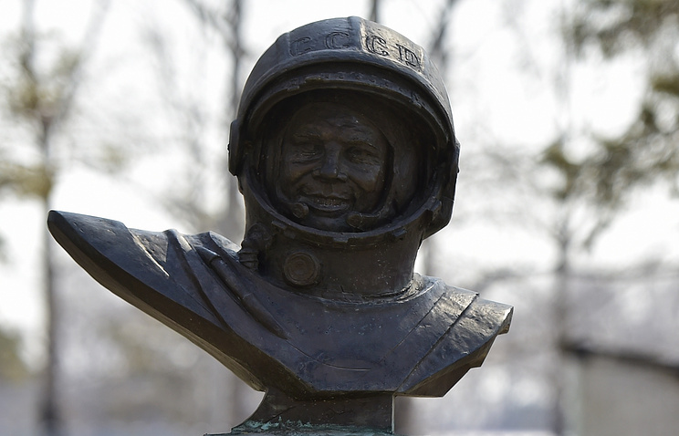Bust of the world's first cosmonaut Yuri Gagarin