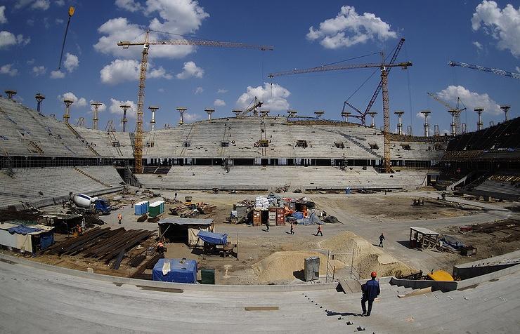 Stadium under construction in Volgograd