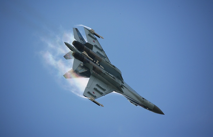 The Su-35S fighter jet