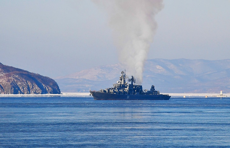 The Varyag missile cruiser