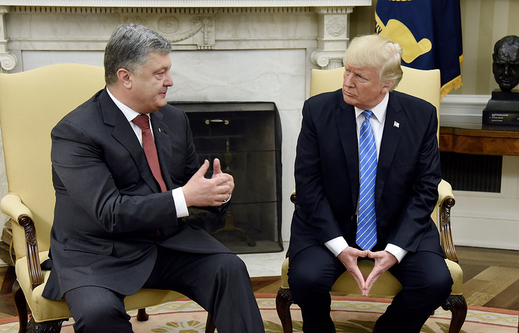 Ukrainian President Petro Poroshenko and US President Donald Trump