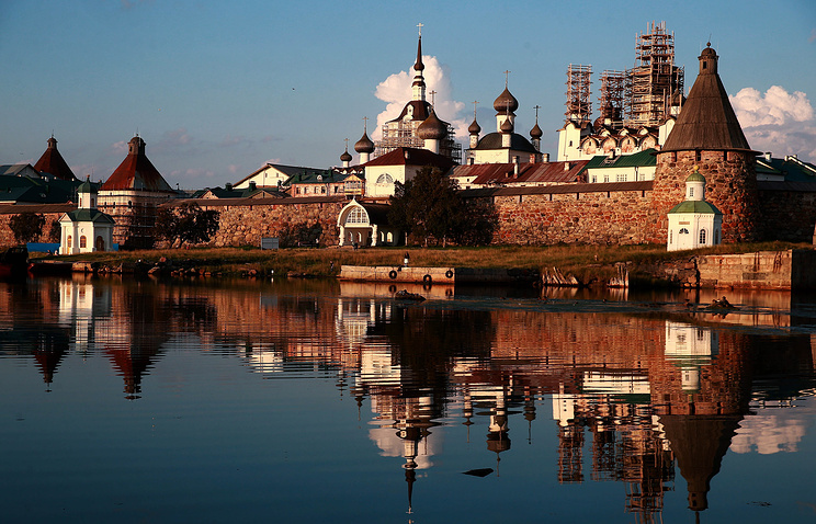 The Solovetsky Monastery on the Solovetsky archipelago