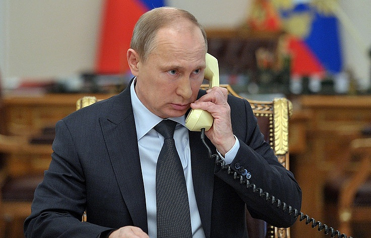 Ukrainian, Russian President Hold Telephone Talks, Along with French, German Leaders