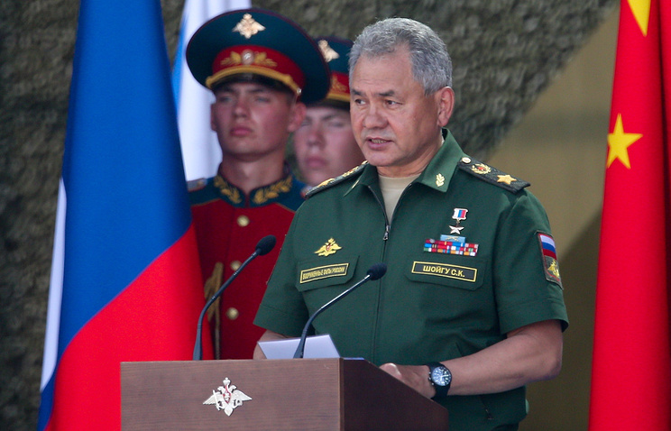 Russia's Defense Minister General of the Army Sergei Shoigu