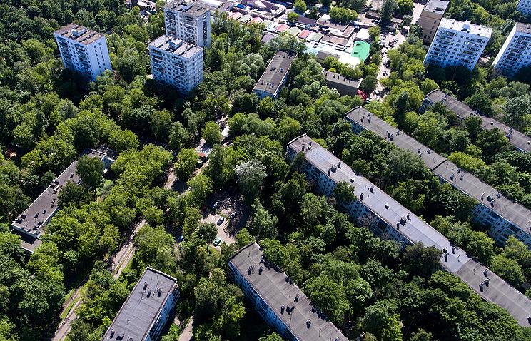 Soviet-era apartment blocks in Moscow
