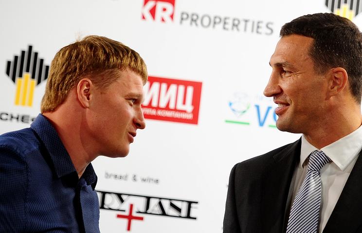 Boxers Alexander Povetkin and Wladimir Klitschko
