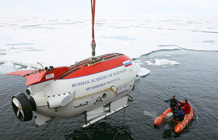 Mir-1 submersible seen during the Arktika 2007 expedition