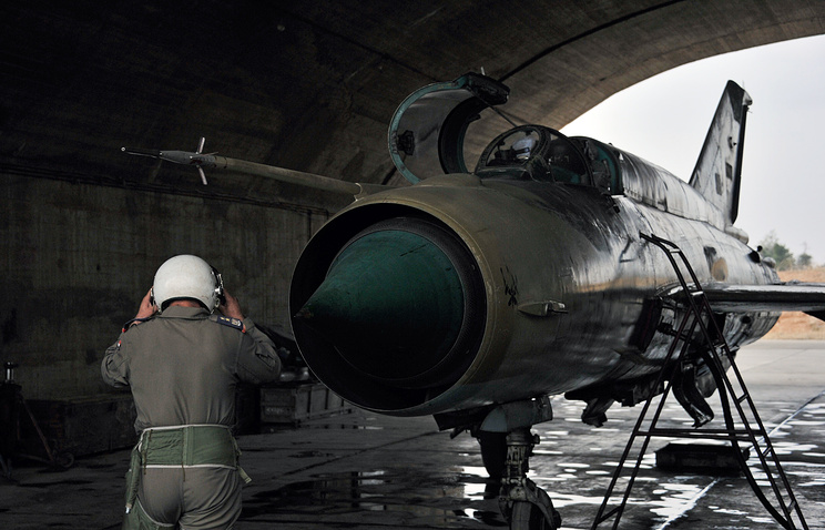MiG-21 fighter jet of the Syrian Air Force