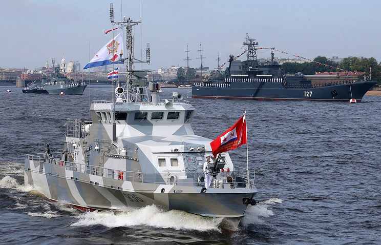 The Russian Navy's anti-submarine boat Grachonok