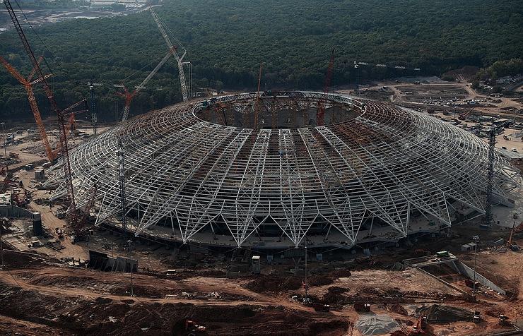 Samara Arena stadium construction