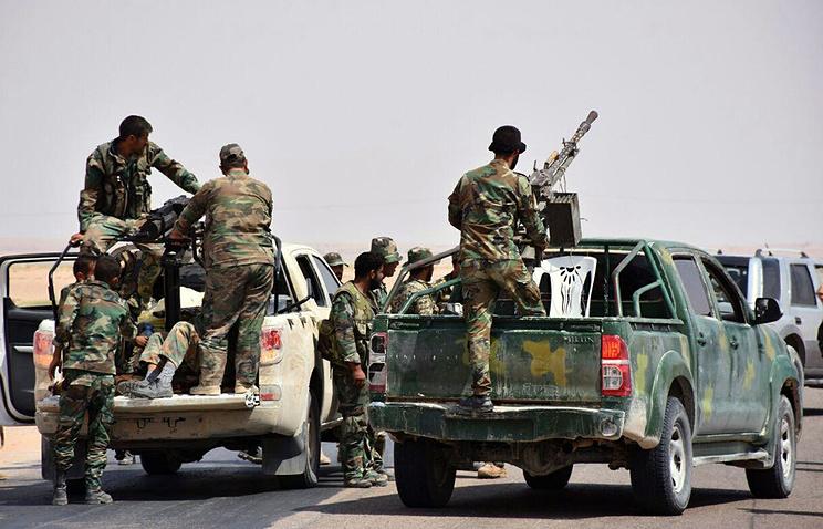 Syrian troops in the eastern city of Deir ez-Zor, Syria