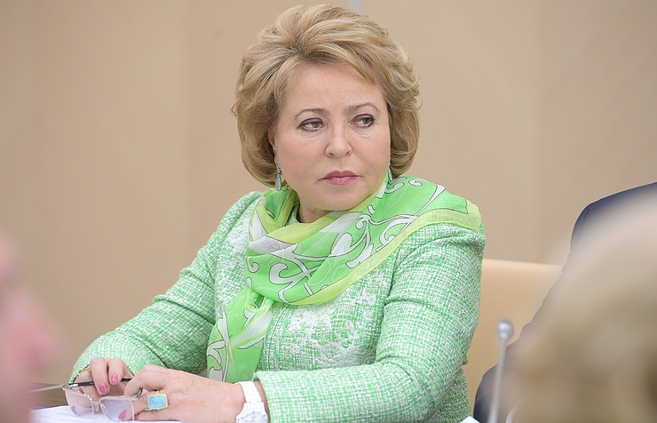 Speaker of the Russian parliament's upper house Valentina Matviyenko