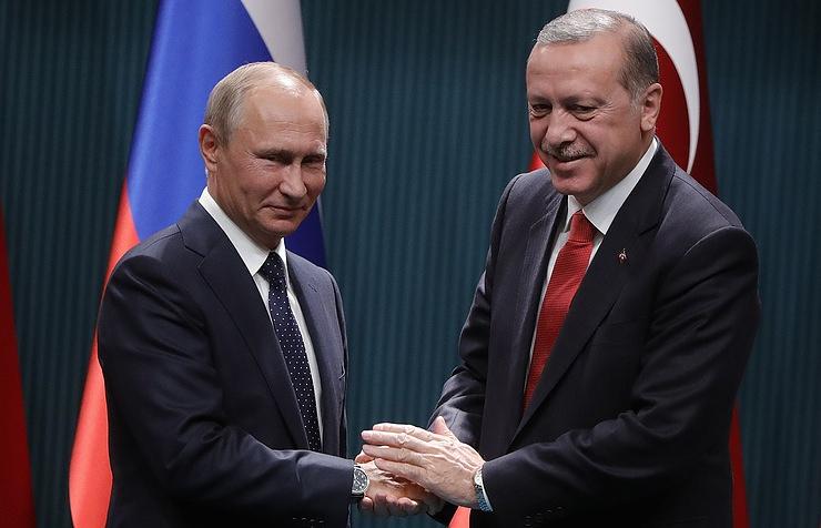 Russian President Vladimir Putin and Turkish President Recep Tayyp Erdogan