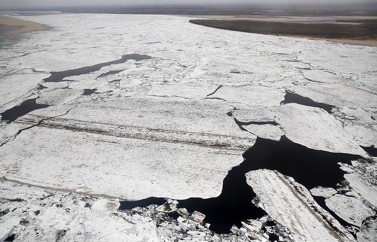 Ice on the Lena River in Yakutia