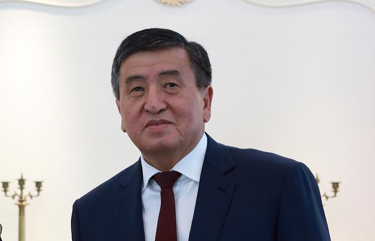 Kyrgyzstan's President Sooronbay Jeenbekov
