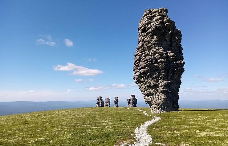 Manpupuner stone pillars