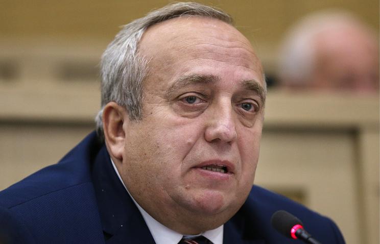 Russia's senator Frantz Klintsevich