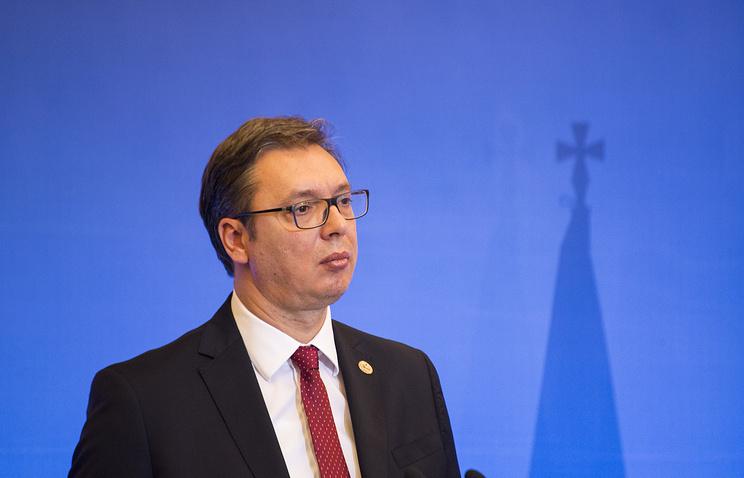 Serbia's President Aleksandar Vucic