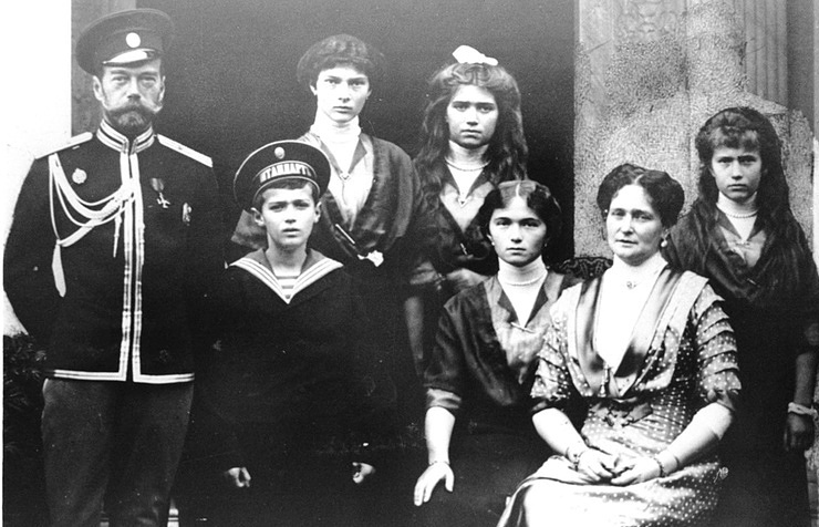 The Russian Royal family, 1915