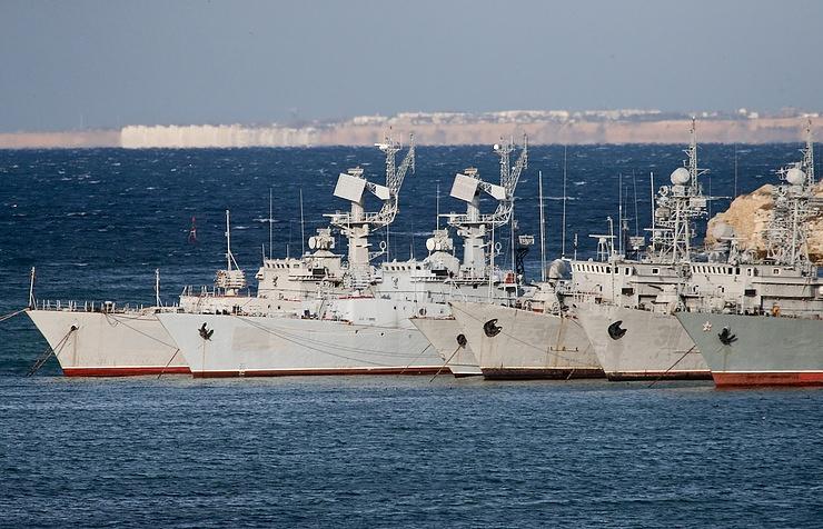 The ships belonging to Ukraine in Sevastopol port