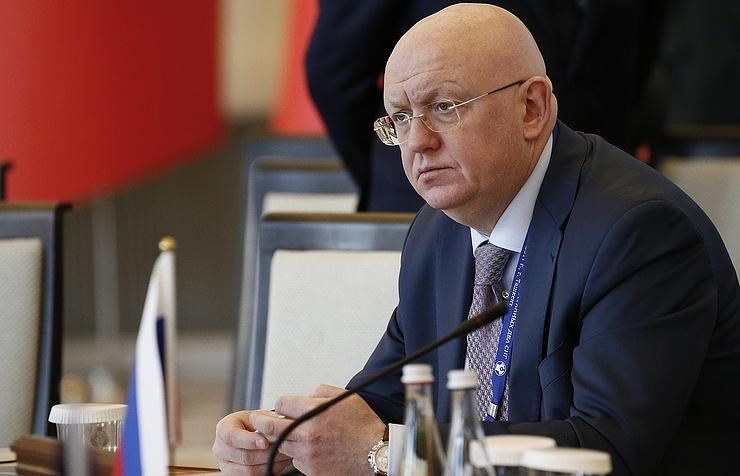 Russia's permanent UN envoy Vasily Nebenzya