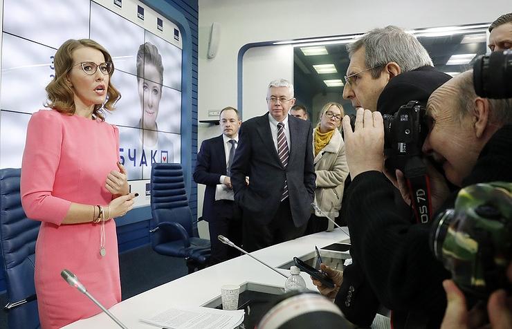Presidential candidate Ksenia Sobchak