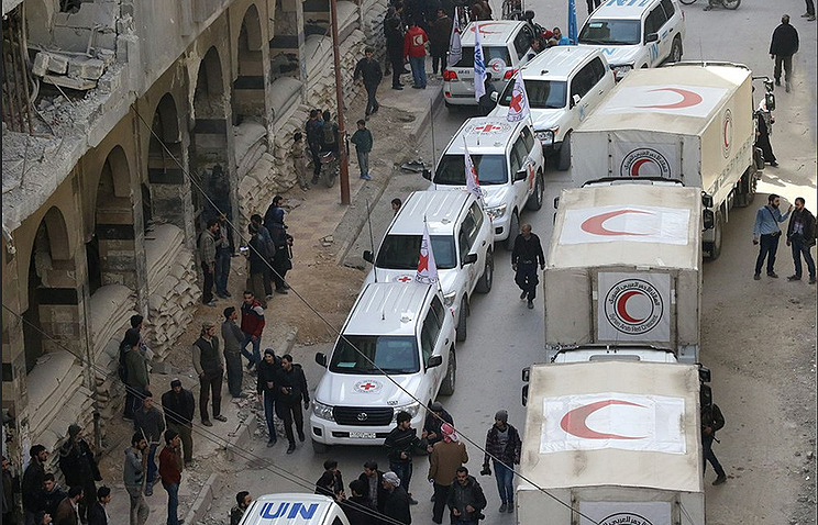 Renewed violence as Red Cross delivers aid to Syria's Ghouta