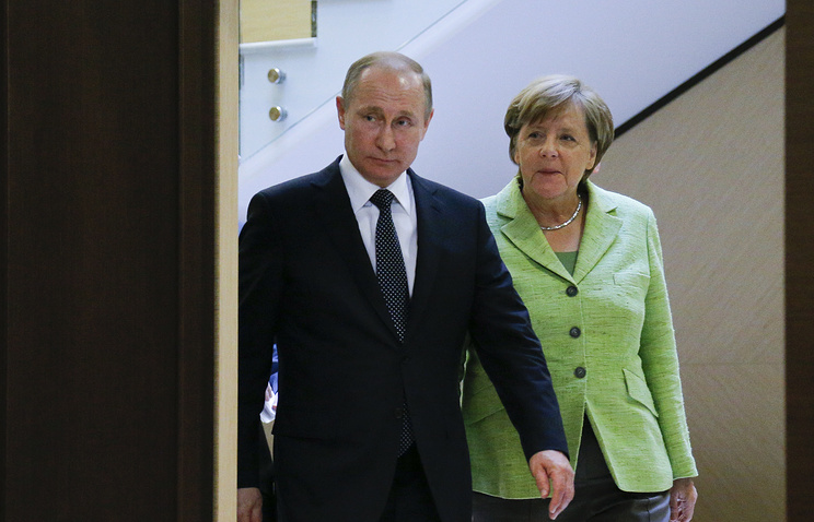 Russian President Vladimir Putin and German Chancellor Angela Merkel, 2017