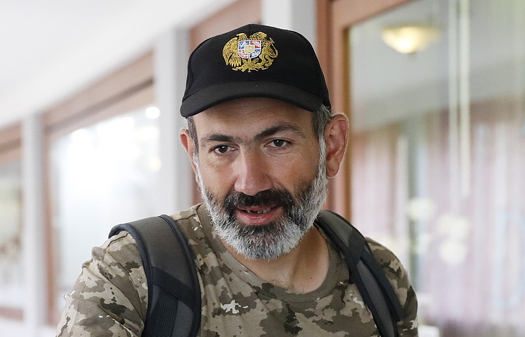 Armenian opposition leader Nikol Pashinyan