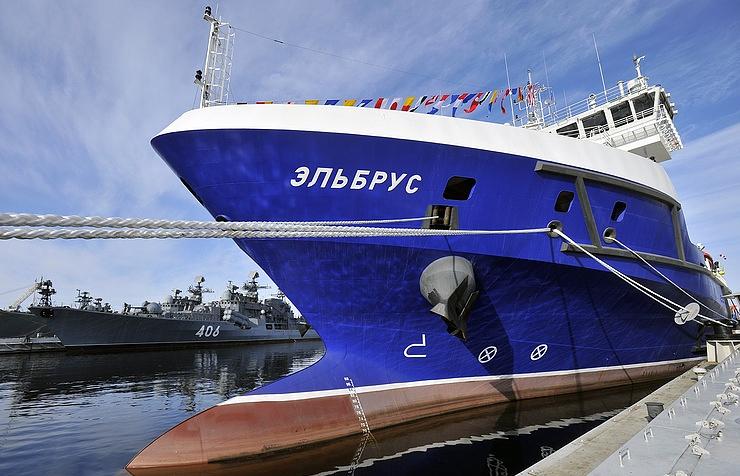The Project 23120 logistics support ship Elbrus