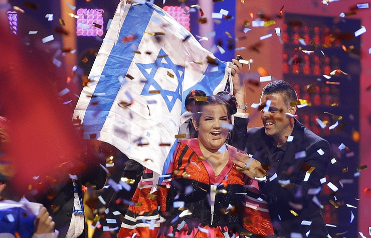 Israeli contestant Netta, the winner of the 63rd Eurovision song contest