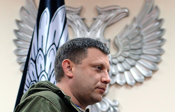 Alexander Zakharchenko, leader of the self-proclaimed Donetsk People's Republic