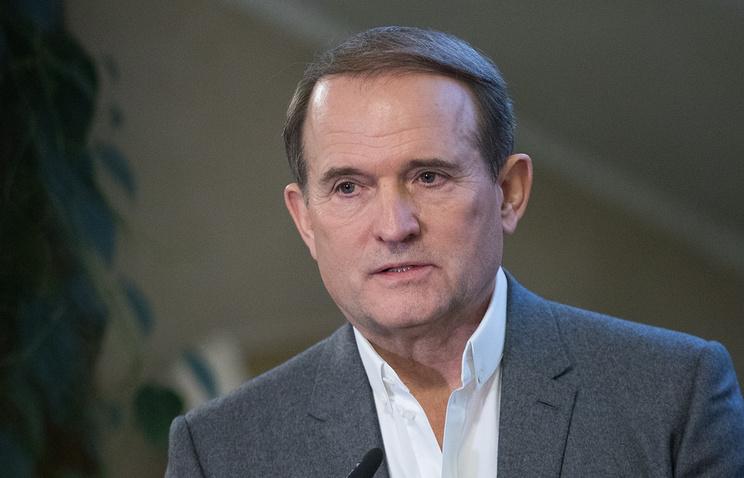 Leader of the Ukrainian Choice public movement Viktor Medvedchuk