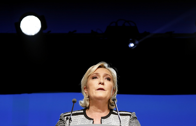 Leader of France's National Rally party, Marine Le Pen