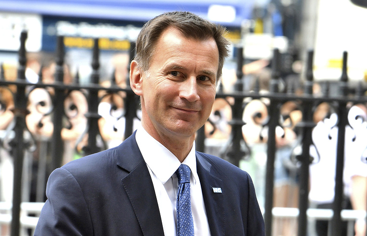 New British foreign secretary Jeremy Hunt