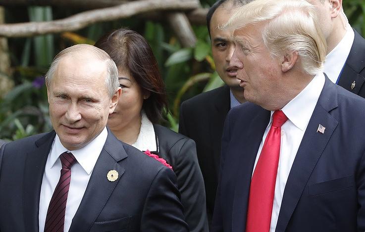 Russian President Vladimir Putin and U.S. President Donald Trump