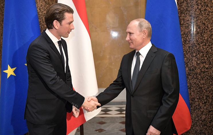 Austrian Chancellor Sebastian Kurz and Russian President Vladimir Putin