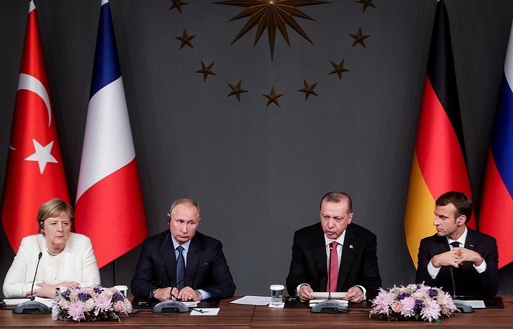 The leaders of Germany, Russia, Turkey and France