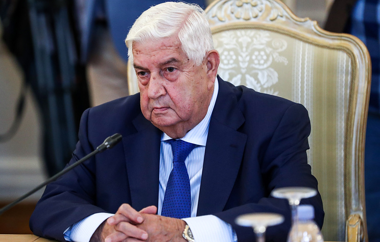 Syrian Foreign Minister Walid Muallem