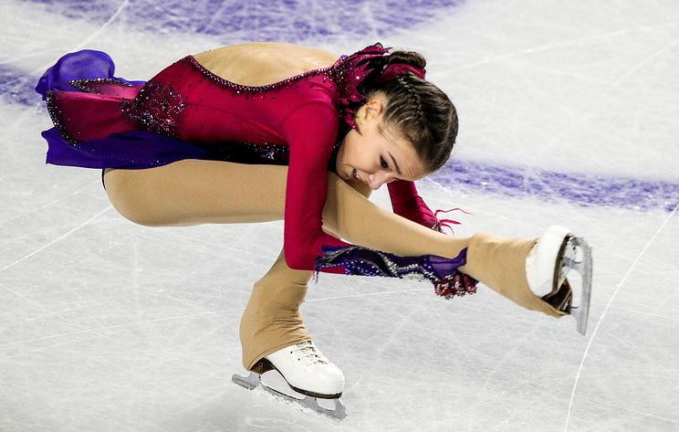 Russian figure skater Anna Scherbakova