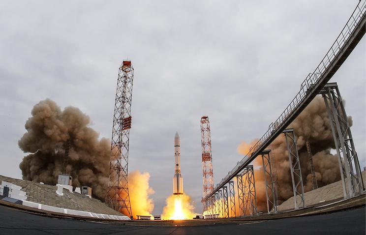 Proton-M rocket carrying ExoMars 2016 spacecraft