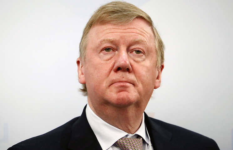Anatoly Chubais, head of the Rosnano company