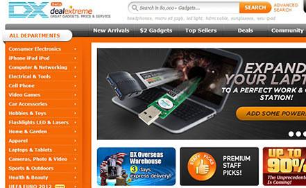 Screenshot dx.com