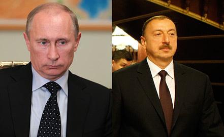 Vladimir Putin, Ilkham Aliyev. Photo ITAR-TASS