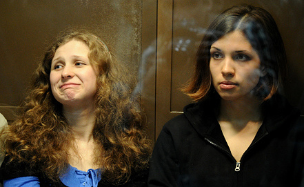 Maria Alyokhina and Nadezhda Tolokonnikova. Photo ITAR-TASS/ Stanislav Krasilnikov