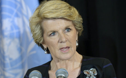 Julie Bishop, Photo EPA/JUSTIN LANE