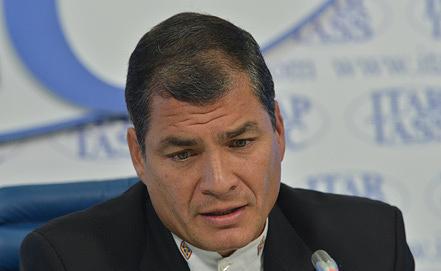 Ecuador's President Rafael Correa. Photo ITAR-TASS/Yury Mashkov