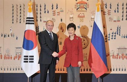 Vladimir Putin and Park Geun-hye
